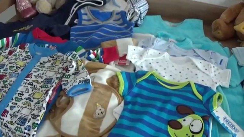 Покупка одежды для новорожденного+